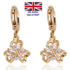 Gold-Plated Ear-Rings with Cubic Zirconium in Heart Design FREEPOST