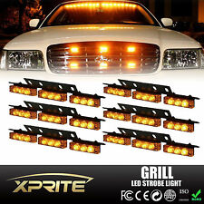 54 Amber LED Emergency Car Vehicle Flash Strobe Lights For Front Deck Dash Grill