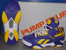 MENS REEBOK SHAQ ATTAQ PUMP in LSU  colors TEAM PURPLE / YELLOW / WHITE SIZE 11