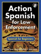 Action Spanish for Law Enforcement: Spanish for Beginners (Bk wCD)-ExLibrary