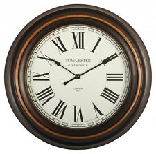 Acctim Towcester 21913 Consett Wall Clock, Antique Black