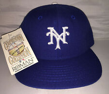 Vtg New York Giants Fitted hat cap size 7 1/8 Leather band Roman deadstock NWT