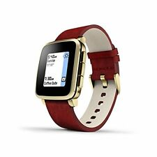 Smart Watches Pebble Time Steel Smartwatch For Apple/android Devices Gold Androi