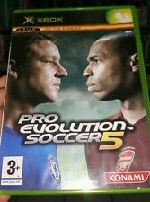 Pro Evolution Soccer 5  (no booklet) MICROSOFT XBOX - FREE POST