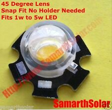 45 Degree Lens Snap Fit For 1w to 5w LED.10 pieces for Growlights Spot Light etc