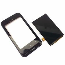 100% Genuine Sony Xperia Tipo ST21i front+digitizer touch screen+LCD display bla