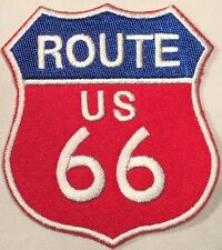 ROUTE US 66 MOTORCYCLE BIKER MC AUTO TRUCK MAP TRAIL IRON/SEW ON VEST PATCH R-27