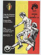 Orig.PRG    EC 2  79/80   FINALE    ARSENAL LONDON - VALENCIA CF  !!  SELTEN