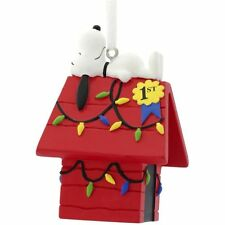 Snoopy on Doghouse 1st Place Christmas Lights 2016 Hallmark Peanuts Ornament