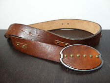 GAP Whiskey Brown Leather Belt with Brass Studs - M