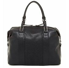 NEW Bueno of California Black Perforated Duffle Gym Weekender Travel Tote bag$90