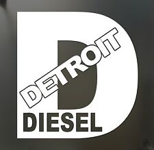 Detroit Diesel Turbo Chevy Sticker LARGE Funny rolling coal 4X4 FWD truck window