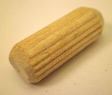 """250 PC.  3/8"""" x 1""""  Wooden Wood Dowel Pins Grooved / Fluted New Free Shipping NC"""