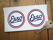Esso Old Vintage Style Circular 65mm Car STICKERS Petrol Gas Pump Petroliana