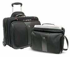 "Wenger Patriot 17"" 2 Piece Business Wheeled Laptop Bag/Briefcase - BRAND NEW"