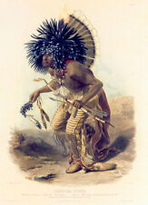 Costume of the Dog Dance Warrior 15x22 Karl Bodmer Native American Indian Art