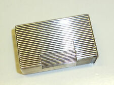 "FRENCH SOLID SILVER JEWELLERS ""CARTIER"" ? POCKET LIFTARM LIGHTER - 1940 - RARE"