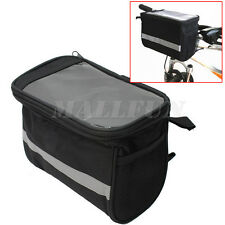 Multi-function Bike Cycling Accessories Front Basket Handlebar Pannier Bag Pouch