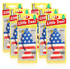Little Trees Hanging Car and Home Air Freshener, Vanilla Pride Scent - Pack of 6