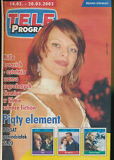 TELE PROGRAM 2003/11 (14/3/2003) MILLA JOVOVICH