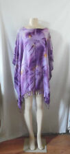 MAUVE LILAC PURPLE TIE DYE BEACH COVER UP PONCHO TOP TUNIC BLOUSE  #26