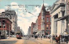 1908 Stores City National Bank Main St. Dallas TX post card