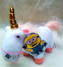 "Despicable Me 2 Soft Toy Fluffy Unicorn Plush Stuffed Animal Doll 9"" free ship"