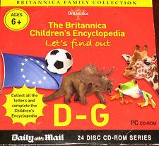 La Enciclopedia Britannica niños: le permite saber-letras D a G (CD ROM)