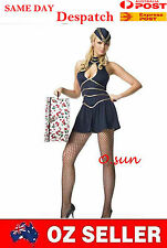 Women AIR HOSTESS Airline Stewardess Costumes Halloween Fancy Mini Dress T-Back