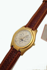 CERTINA OROLOGIO UOMO ORO MASSICCIO 18 KT PELLE DATA WATCH MAN GOLD LEATHER