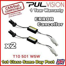 2 x LED 501 T10 W5W WEDGE CANBUS NO ERROR LOAD RESISTOR