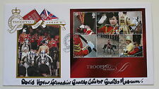 TROOPING THE COLOUR FDC SIGNED BY DAVID HORN CURATOR GUARDS MUSEUM LONDON H/S