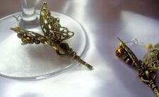 2 Steampunk Butterfly Chaos Wedding Wine Glass Charms Table Decorations