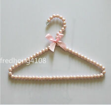 Plastic Pearl Bow Hanger Clothes Hangers For Kid Children House Organizer