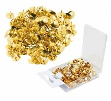 300 Strong GOLD COLOUR DRAWING PIN PACK Brass Head Push Pins Thumb Tacks BOXED
