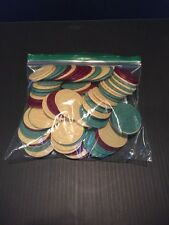 B9) YAHTZEE TEXAS HOLD'EM POKER CHIPS REPLACEMENT CHIPS X 85