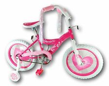 "Kids 16"" Kismo Girl's Training Wheels Bicycle Bike Pink For Age 4-8"