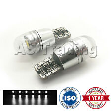 2X WHITE W5W 501 SIDELIGHT NUMBER PLATE INTERIOR REPEATER DOME LED BULBS CANBUS