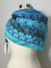 Missoni Printed Silk Square Scarf, Blue