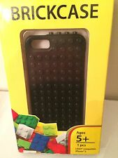 LEGO Compatible iPhone 5 Black Plastic Phone Case Cover by BrickCase - NEW!