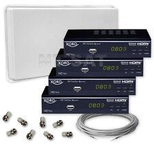 Komplett mit SelfSat mit Quad LNB und 4 Digital HD Receiver XORO HRS 8525