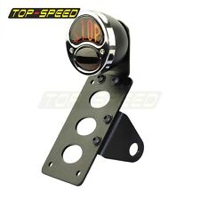 Stop Type Side Mount License Plate Holder Taillight+ Number Plate Bracket Bobber