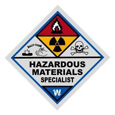 Hazardous Materials Specialist Haz Mat Firefighter Reflective Decal Sticker