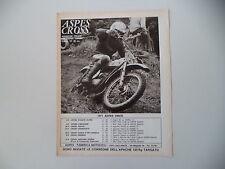 advertising Pubblicità 1971 MOTO ASPES NAVAHO 50 CROSS CASA e FELICE AGOSTINI