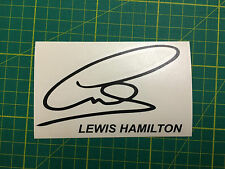 LEWIS HAMILTON SIGNATURE DECAL STICKER F1 #44 WORLD CHAMPION
