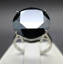 17.58cts Natural Black Diamond 10k Gold Ring, Certified AAA Grade & $10230 Value