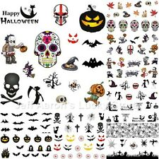 12 sheets manicure Halloween water transfer nail art decoration stickers decals