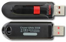 SanDisk 32GB Cruzer GLIDE USB 32G Flash Pen Drive SDCZ60 32 GB + FREE SHIPPING
