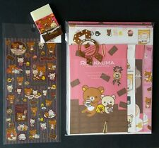 San-x Rilakkuma Chocolate and Coffee Kawaii Letter Set Stickers Stationery LOT