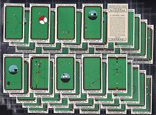"""OGDENS, TRICK BILLIARDS. ORIGINAL SERIES OF 50, ISSUED IN 1934 """"A VERY NICE SET"""""""